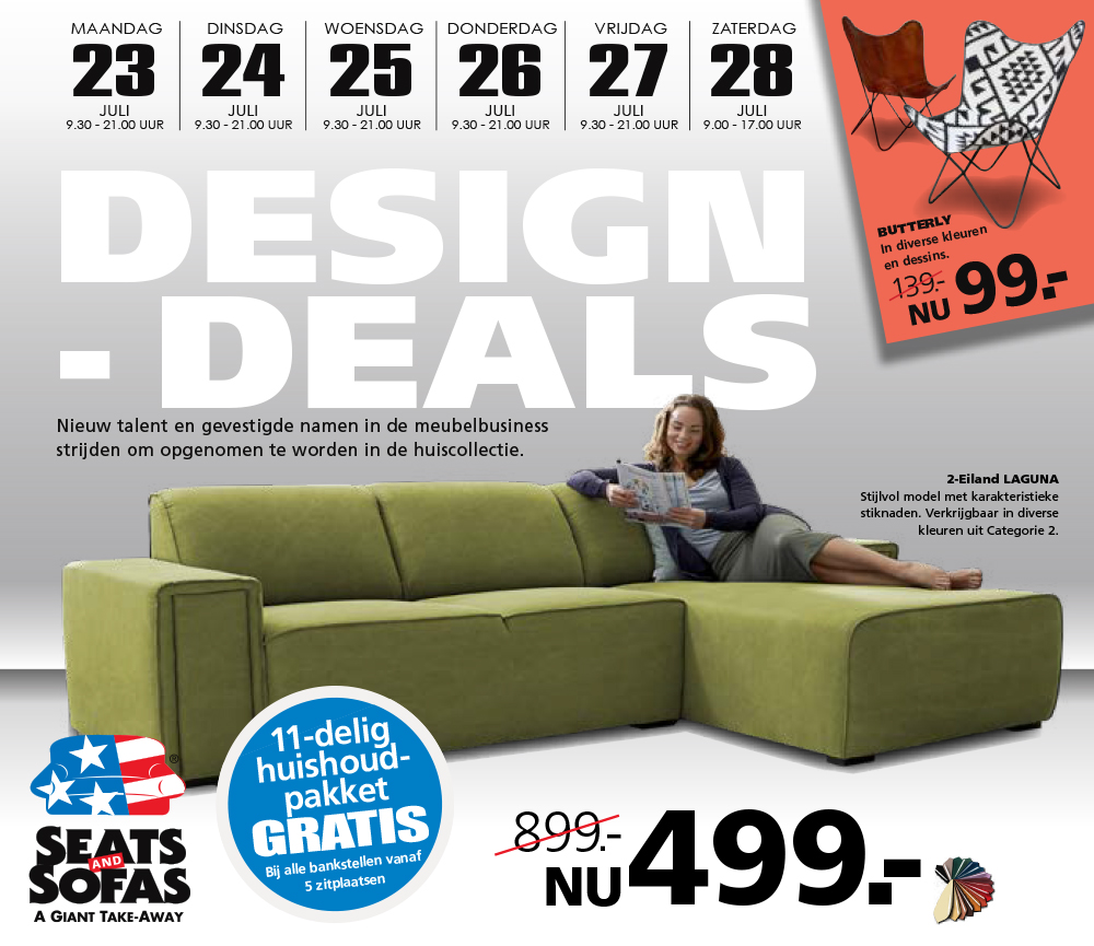 Voorpagina van de Seats And Sofas folder