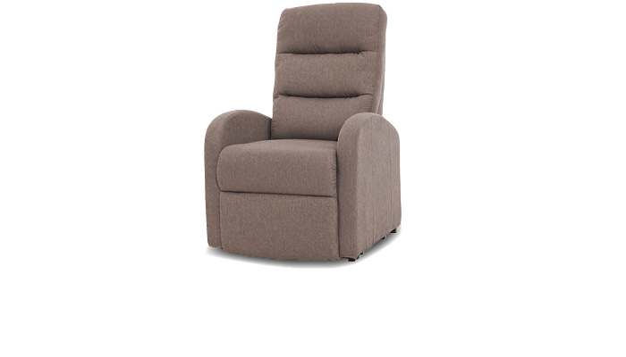 Fauteuil bruin, relaxstoel taupe