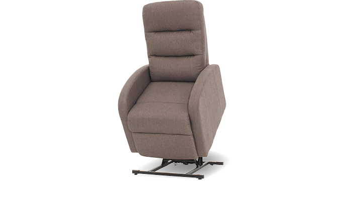 Fauteuil taupe, relaxstoel bruin